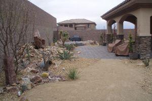 Xeriscapes In Las Vegas Backyard